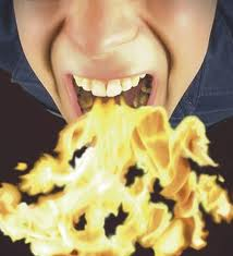 fire out of mouth