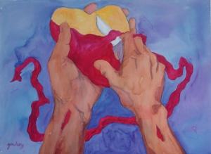 Circumcision of the heart by Gwen Meharg drawnarttogod.com