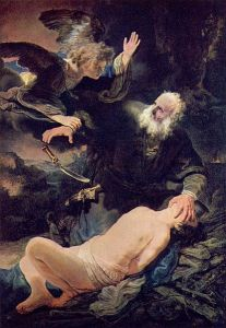 Sacrifice of Isaac by Rembrant