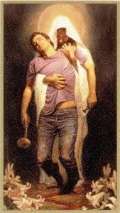 Christ holding me
