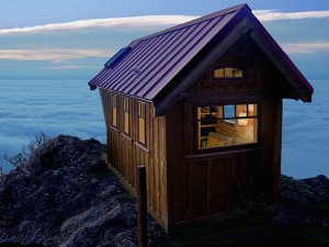 Tiny House in clouds