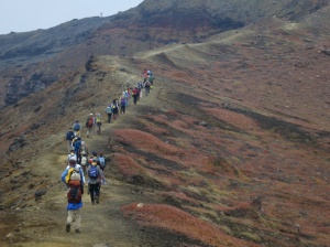 Line-Of-Aso-Hikers